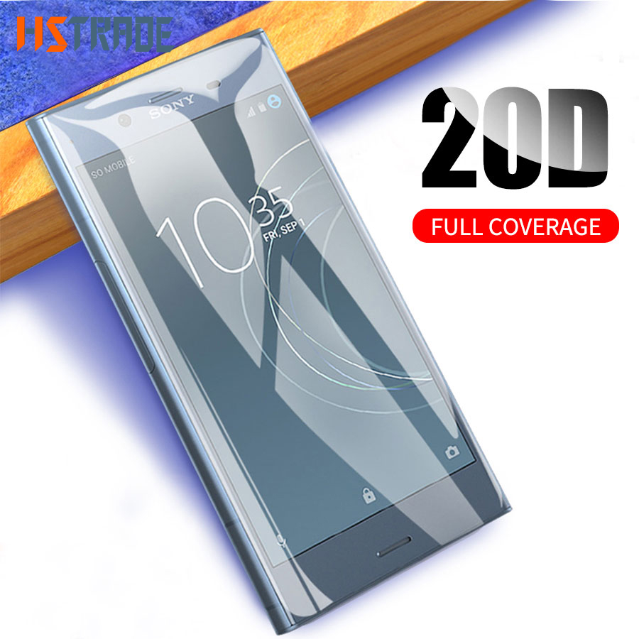 6D Tempered Glass For Sony Xperia XA XA1 XA2 Ultra X Compact XP XZ XZ2 XZS Curved Full Cover Screen Protector Film Rounded Edge