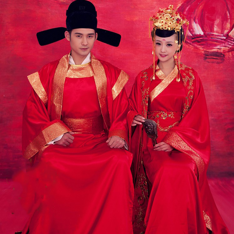 10f97d1cdef04 Red Traditional Chinese Wedding Hanfu Tang Dynasty Wedding Costume ...