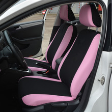 Hot sale Polyester Fabric Car Seat Covers for Women Full Set Pink Butterfly Embroidery Universal Fit Most Seats Styling New