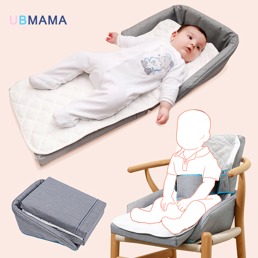 Multi-function high quality portable baby crib travel bed dining chair newborns foldable