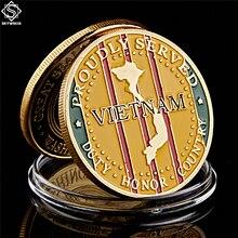 Америка Кричащие Орлы морской корпус золотой вызов монеты США Вьетнамская война коллекционные вещи