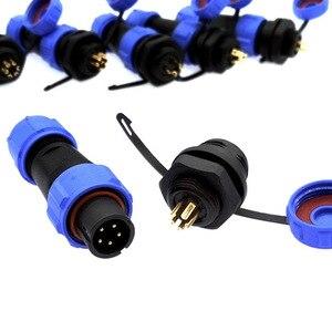 SP1310 SP1312 wodoodporne złącze SP13 2pin 3pin 4pin 5pin 6pin 7pin 9pin IP68 złącza wtyczka i gniazdo