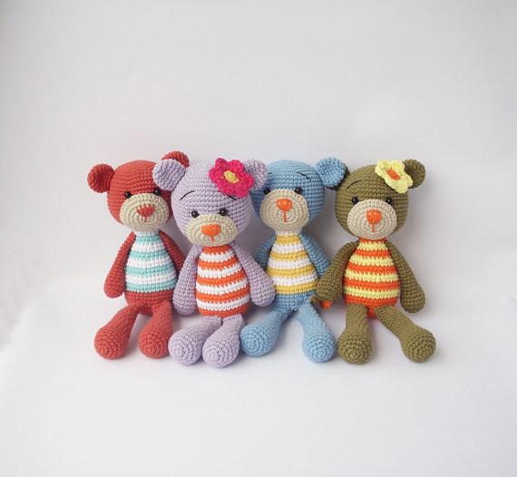 Simples Coelho ou Teddy-Crochê Boneca de Brinquedo DIY