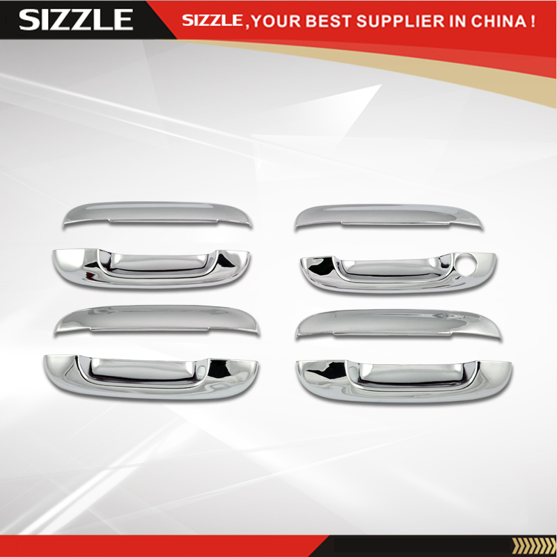 ABS Plating Chrome Door Handle Cover for Chevrolet Trailblazer 2002 2009 Compatible For Cadilla CTS Envoy