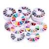 20pcs 3D Acrylic Nails Glitter Fashion Nail Art Multicolor Practical Nail Glitter For Decoration FE