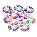 20pcs 3D Acrylic Nails Glitter Fashion Nail Art Multicolor Practical Nail Glitter For Decoration  FE#8