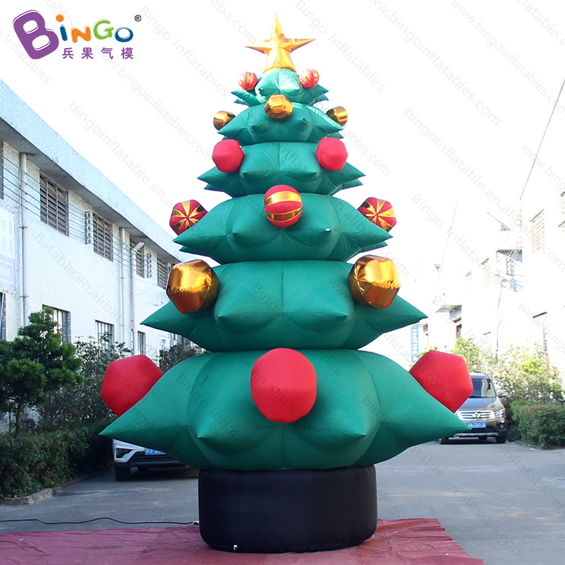 free delivery 5 meters high inflatable christmas tree model for party decoration blow up xmas tree balloon for advertising toys in inflatable bouncers from