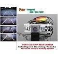 Умные Треков Чип Камеры/HD CCD Интеллектуальный Динамический Парковка автомобильная Камера Заднего вида Для Peugeot 607/806/807