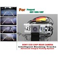 Smart Tracks Chip Camera / HD CCD Intelligent Dynamic Parking Car Rear View Camera For Peugeot 607 / 806 / 807