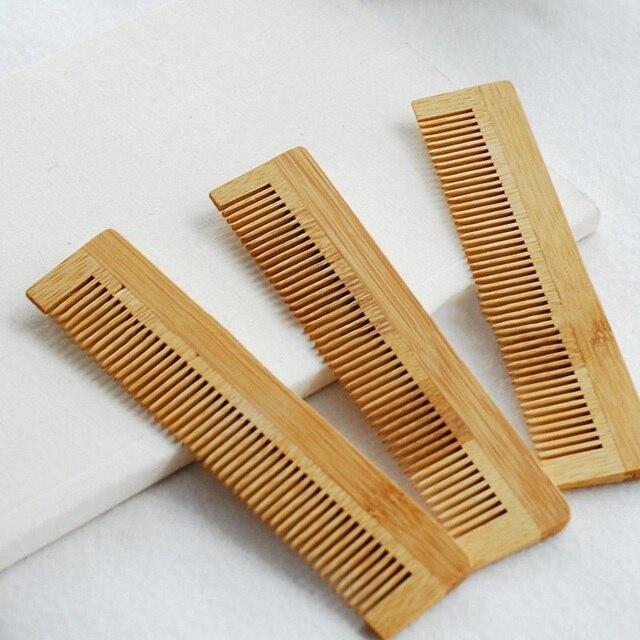1 Pcs yüksek kalite masaj ahşap tarak bambu saç havalandırma fırça fırçalar saç bakımı ve güzellik spa masaj aleti toptan