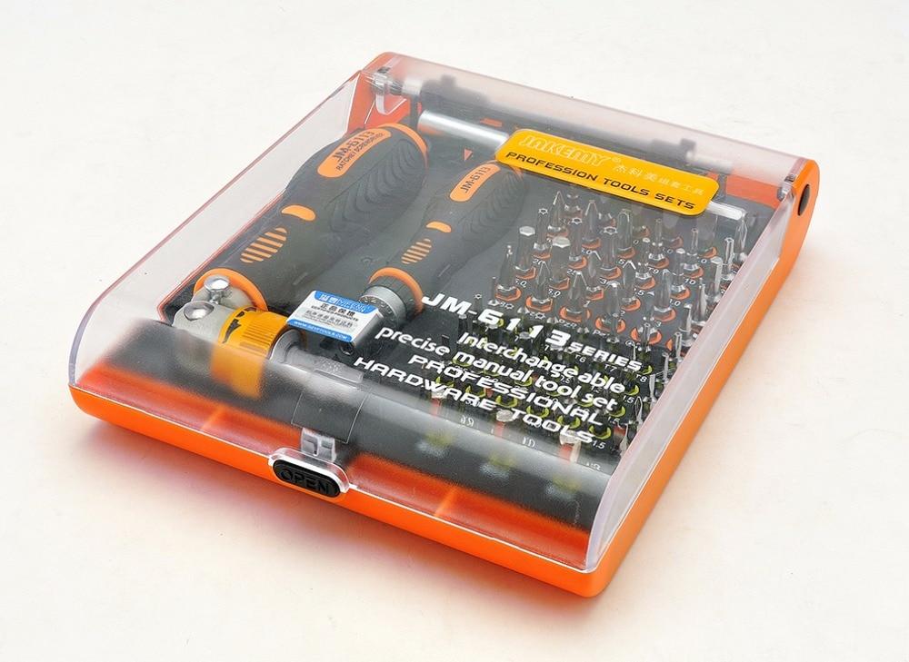Jakemy JM-6113 multitool domácí rohatkový šroubovák sada - Sady nástrojů - Fotografie 4