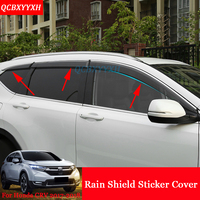 4pcs Lot Car Styling Visors Sun Rain Shield Window Trim Stickers Awnings Shelters Window Covers For