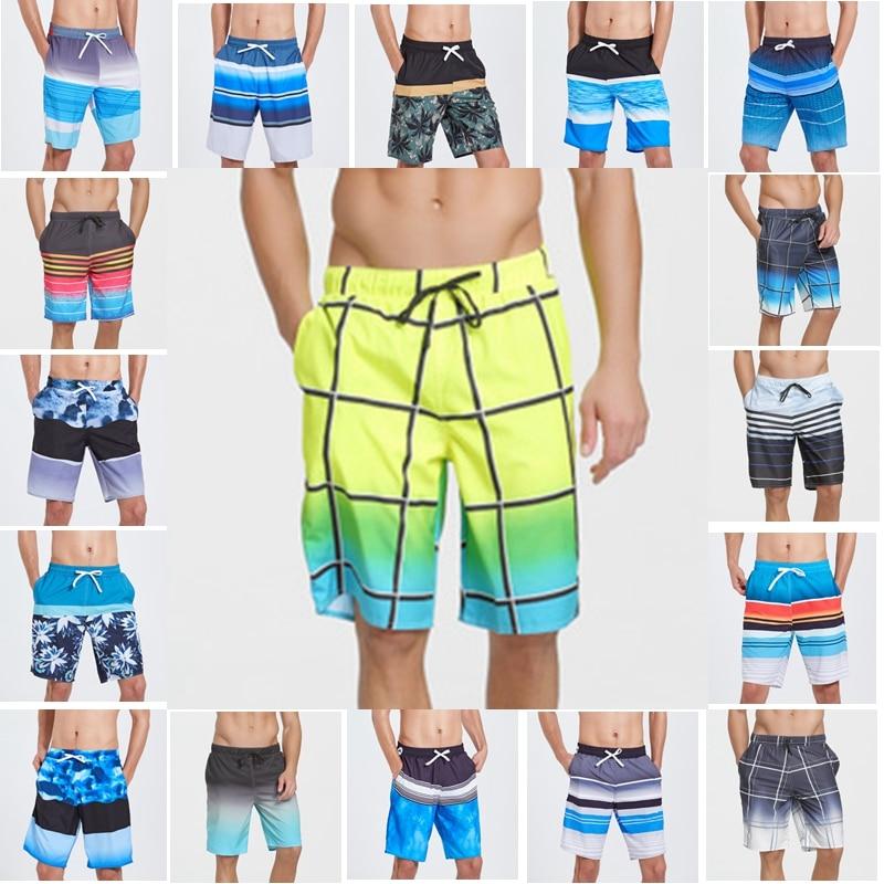 Men Swimwear Swim  Trunks Beach Board Shorts Swimming Short Pants Swimsuits Mens Running Shorts Surfing Quick Dry Cothes