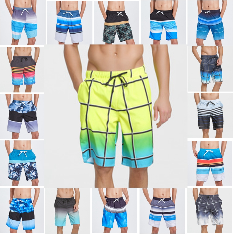 Men Swimwear Swim Trunks Beach   Board     Shorts   Swimming   Short   Pants Swimsuits Mens Running   Shorts   Surfing Quick Dry Cothes