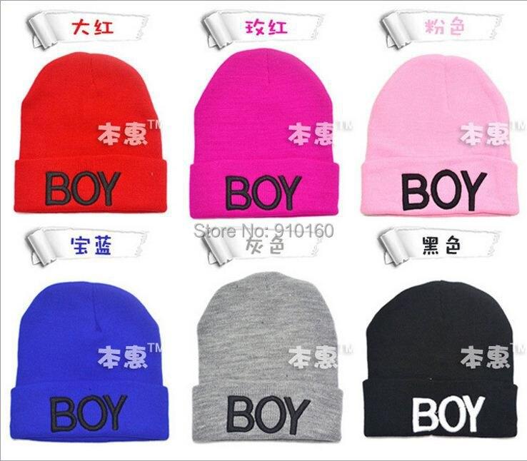 Новая зимняя детская шапка, детская вязаная шапка для мальчиков, детская шапка, милая, 6 цветов