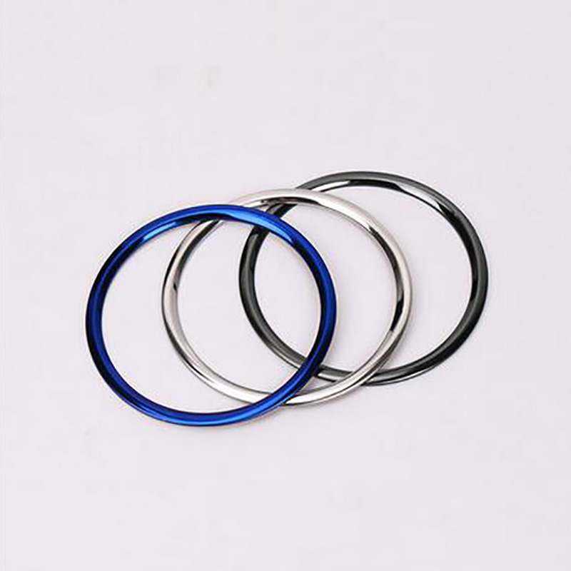Steering Wheel Brand Logo Cover Ring Trim Stainless steel Decorative ring Fit for Sylphy Pulsar Sentra 2016-2018 Car Accessories
