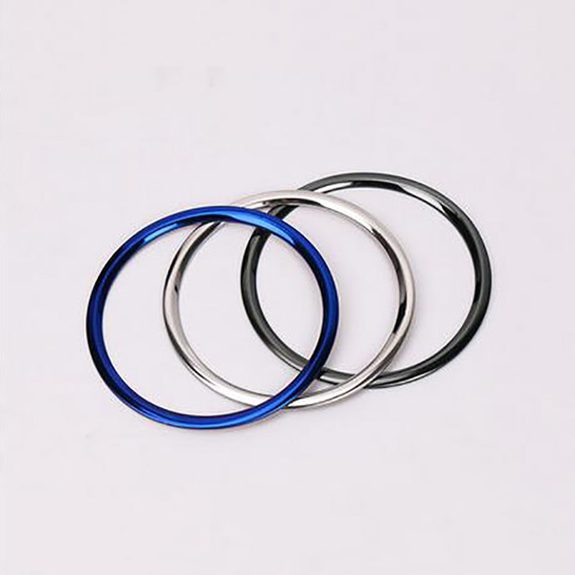 Steering Wheel Brand Logo Cover Ring Trim Stainless steel Decorative ...