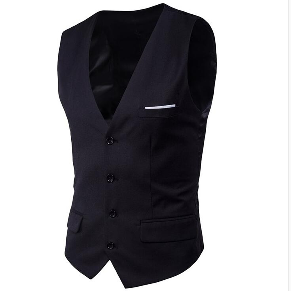 2018 Socially Male Slim Fit Vest Suit Men Waistcoat Suit Vest Fashion Formal Business Casual Sleeveless S-6XL Plus Size