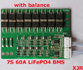7S 60A  LiFePO4  BMS/PCM/PCB battery protection board for 7 Packs 18650 Battery Cell w/ Balance