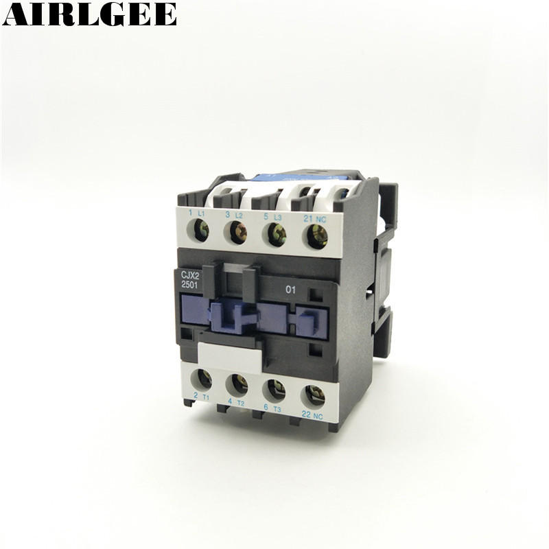 цена на CJX2-2501 Motor Controller AC Contactor 25A 3 Phase 3-Pole NC 220V 50/60Hz Coil