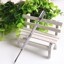 1 Pc 2 sposoby stron skórek łyżka Pusher Remover ze piękno Manicure Pedicure Salon narzędzia do pielęgnacji paznokci martwy naskórek do czyszczenia tanie tanio Pusher skórek 14 5cm Stainless steel Silver 1pc in a pack Nail Art Tools