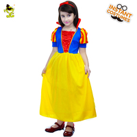 Beautiful Snow White Costumes Girls Classical Fairy Tale Character Princess Cosplay Fancy Dress For Children