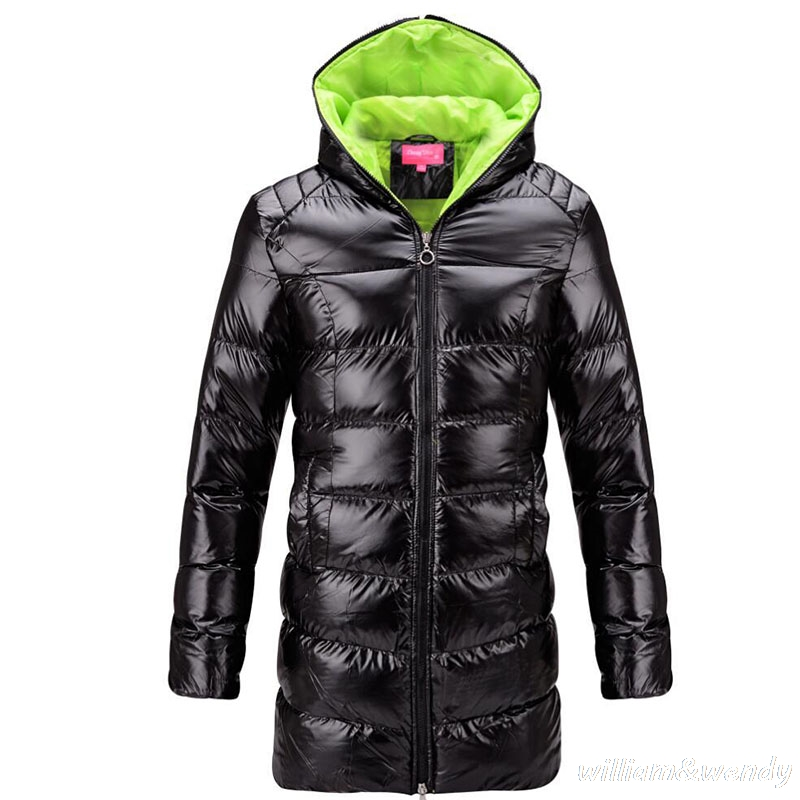 font b Women b font Ukraine Winter Warm Black Hooded Cheap O Coat Thicken font