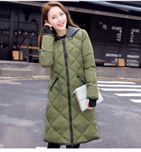 Women's Cotton-padded Jacket 2016 New Winter Medium-long Down Cotton Parkas Plus Size Coat Female Casual Coats Warm Parkas M-3xl