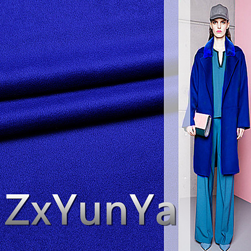 148cm wide cashmere wool fabric 91.7% cashmere wool high-end brand Navy blue wool hair autumn and winter coat fabric