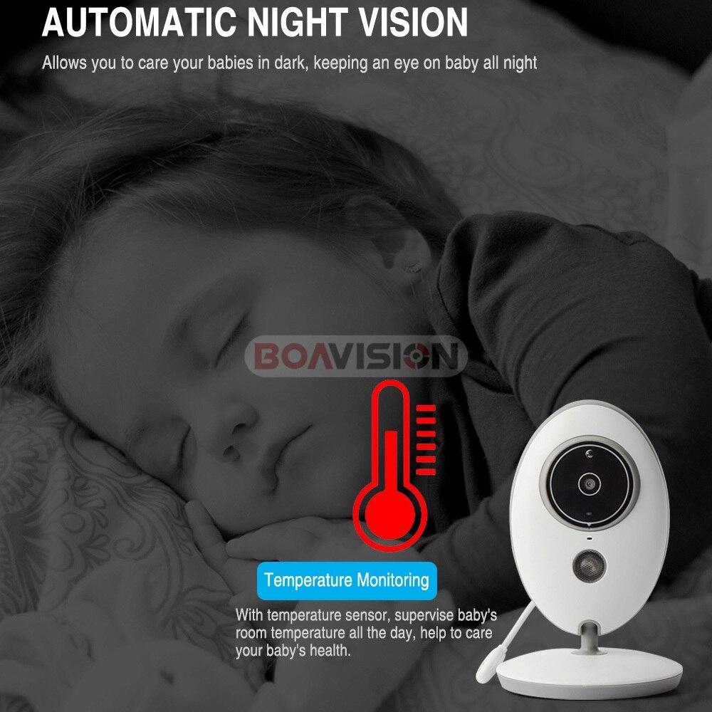 BOAVISION VB605 portátil de 2,4 pulgadas LCD Wireless Baby Monitor Video Radio cámara de niñera intercomunicador IR Bebe Cam Walkie hablar con la niñera - 5
