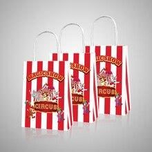 Carnaval Circus Candy Tassen Kids Verjaardagsfeestje Decoratie Gift Bags Baby Shower Papier Geschenkdozen Verpakking