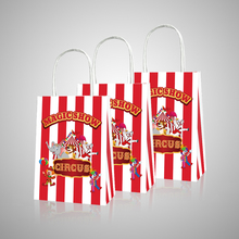 Carnival Circus Candy Bags Kids Birthday Party Decoration Gift Bags Baby Shower Paper Gift Boxes Packing