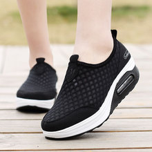 Summer new rocking shoes mesh breathable womens casual set foot thick bottom sneakers 35--42