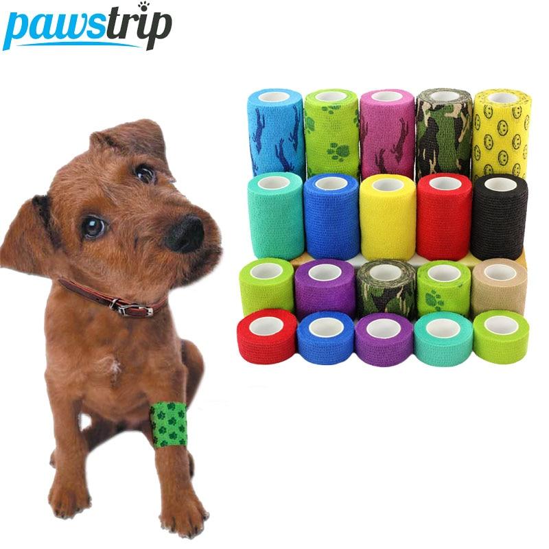 1Roll Flexible Cohesive font b Pet b font Bandage Medical Elastic Bandage Vet Tape Wrap 4