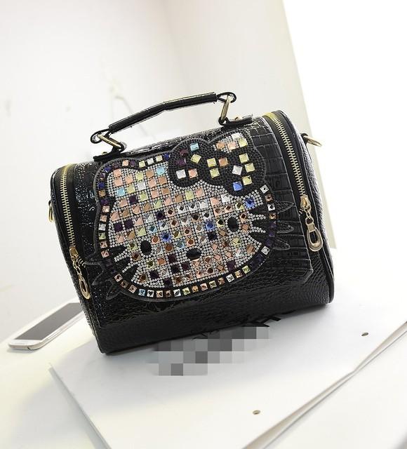 6c571f810158 Luxury women female leather hello kitty bag handbags shoulder famous brands  designers crossbody bags for women bolso mujer