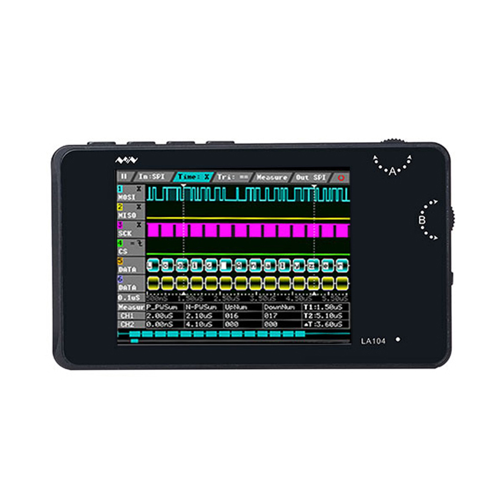 DSO LA104 2.8 inch Screen 4 Channels Digital Logic Analyzer Oscilloscope SPI IIC UART Programmable 100MHz Max Sampling Ra