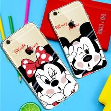 806a02cedfb Funda de dibujos animados adorable Mickey Minnie Mouse para Apple iphone 6  6 s 6 Plus 7 8 Plus Donald Daisy Duck funda transpare.