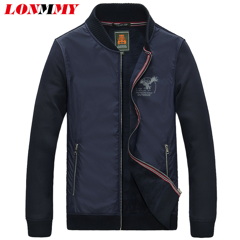 LONMMY 3XL Knitted sleeve jacket men Cotton +Polyester jaqueta casual coat men clothes mens jackets and coat 2018 Spring Autumn men s knitted jacket