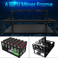 6 GPU Open Air Mining Miner Frame Rig Case 6 GPU Graphic Card Crypto Coin ETH BTC Ethereum Computer Case Towers For BTC Miner
