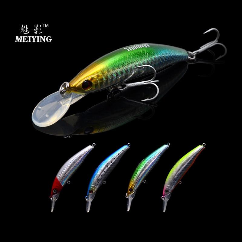 ( 4pcs/lot ) Tsurinoya DW13 105mm/15g Minnow Lure Plastic Hard Fishing Lures Minnows Bait With VMC Treble Hooks 2.5m Deep Water