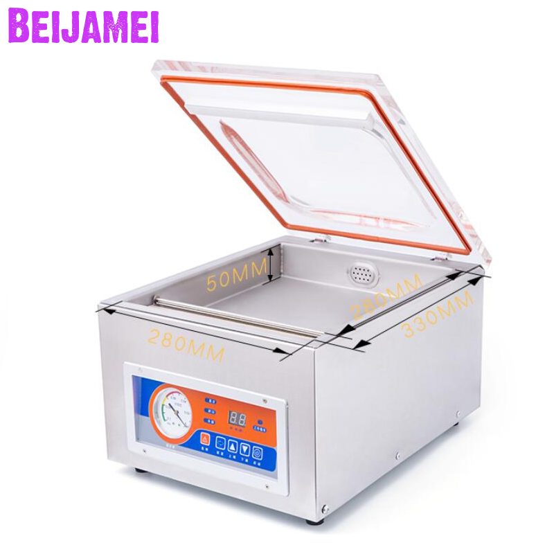 BEIJAMEI Desktop Automático Empacotador Aferidor do Vácuo de Alimentos Máquina de Embalagem A Vácuo de Selagem Para A Conservação de Alimentos Comercial Molhado Seco