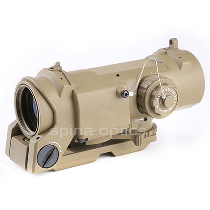 SPINA OPTICS Tactical Rifle Scope Quick Detachable 1X-4X Adjustable Dual Role Sight For Hunting
