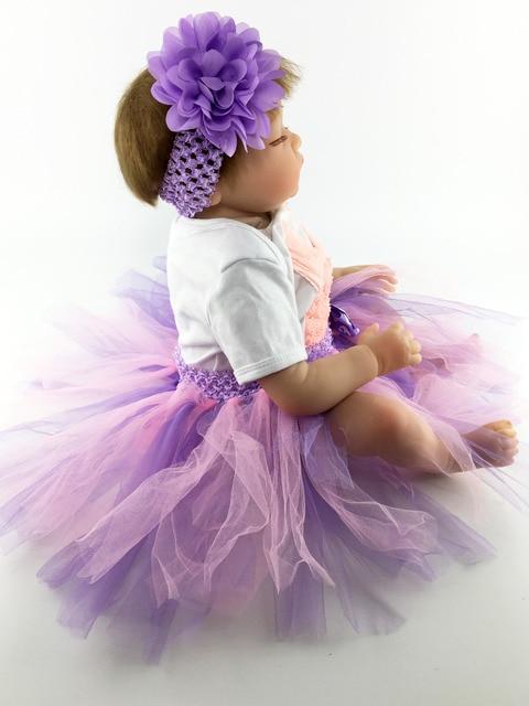 55cm Soft Silicone Reborn Baby Doll Toys Lifelike Newborn Girls Babies Sleeping Doll Child Brithday Gift
