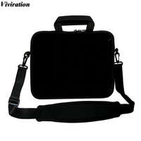 Casual Fashion Black Computer Bag 17 Inch Neoprene Sleeve Laptop Bag 17.4 17.3 16.8 Inch Viviration Zipper Carry Cover Case