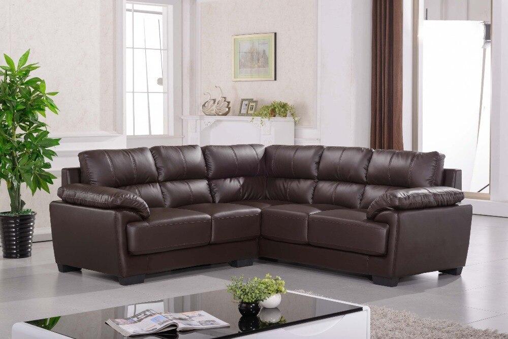 Sofá de couro de canto sofás de canto em Sofá para a sala ...