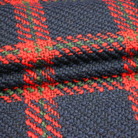 Autumn and Winter Yarn Dyed Plaid Wool Tweed Coat Fabric Wholesale Width150cm 433GSM