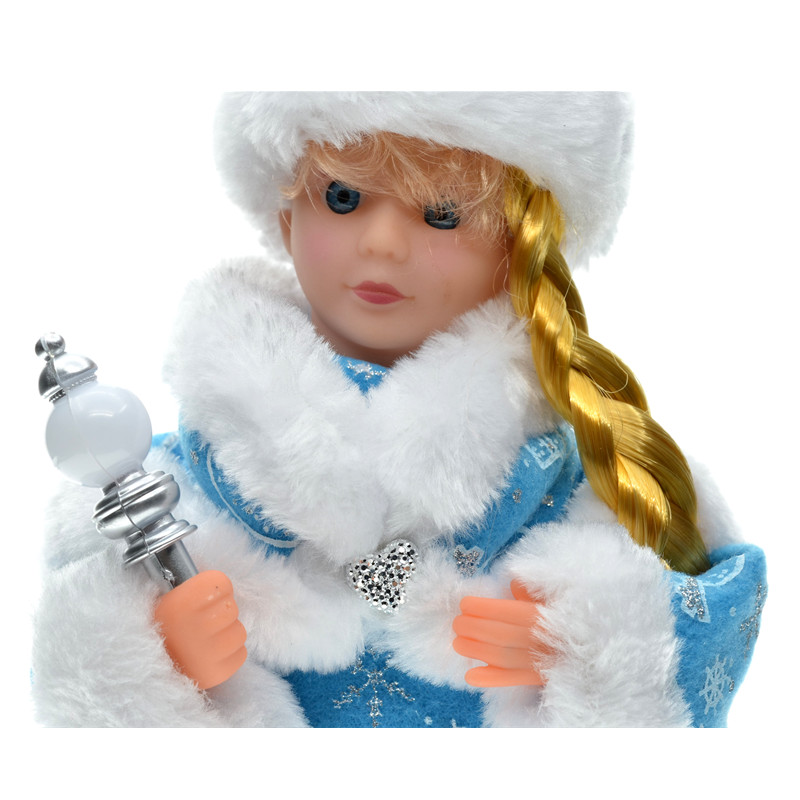 30cm novoletni okraski božični električni dedek Mraz glasbeni - Dekor za dom - Fotografija 4