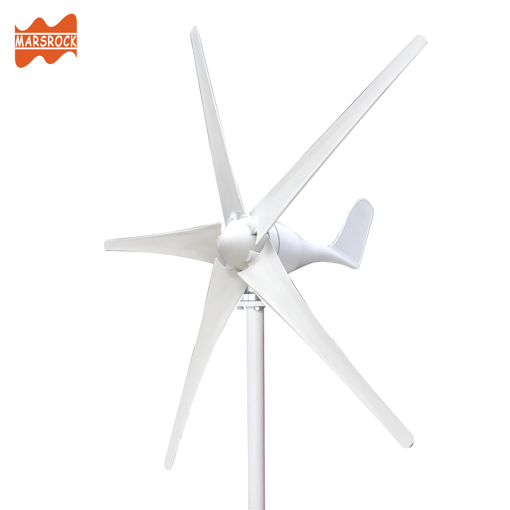 With wind charge controller, 3 or 5 blades 400W Wind Turbine Generator AC 12V or 24V only 2m/s Small Start Wind Speed