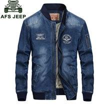 L 4XL New 2017 Spring Retro Denim Jackets Fleece Mens Jeans Coats Winter Jackets Brand CLOTHES