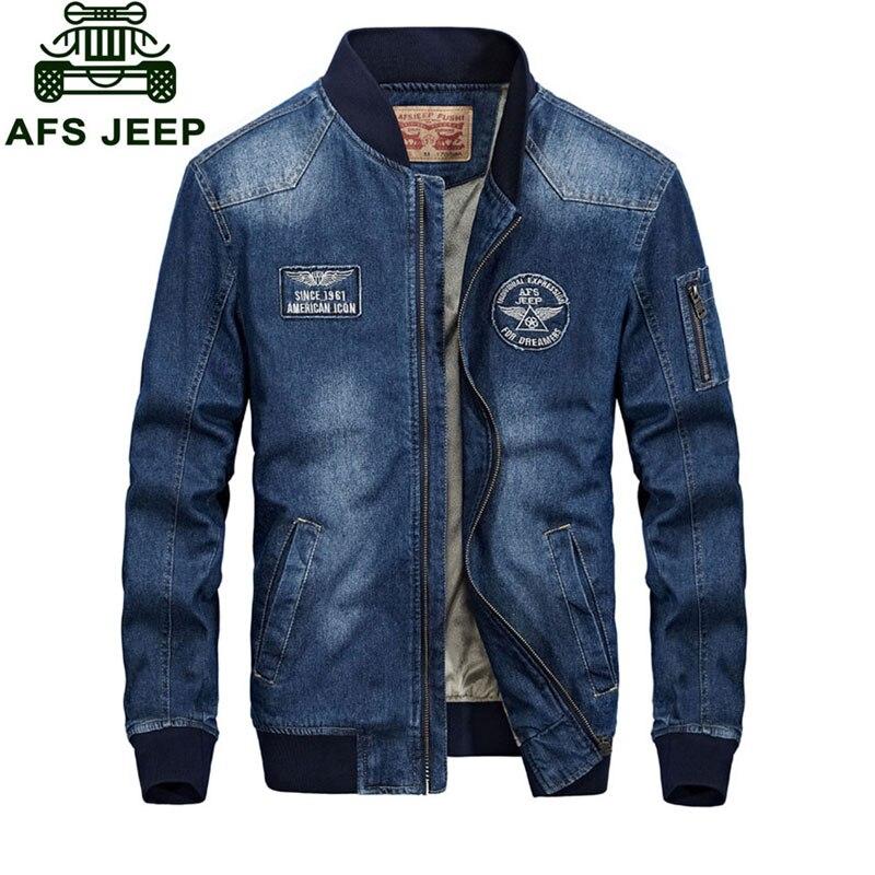 L 4XL New 2017 Spring Retro Denim Jackets Fleece font b Mens b font font b